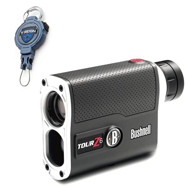 Bushnell Tour Z6 Tournament Edition Golf Rangefinder with T-Reign Retractable Gear Tether