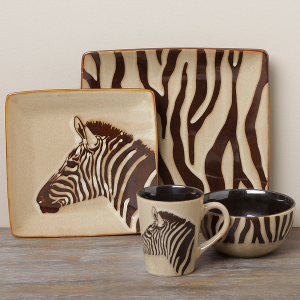 Tabletop Unlimited 'Zebra' 16-piece Dinnerware Set