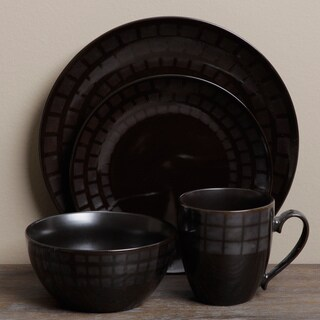 Tabletop Unlimited 'Mosaic Black' 16-piece Dinnerware Set