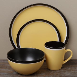 Tabletops Unlimited Argentina Yellow 16-piece Dinnerware Set