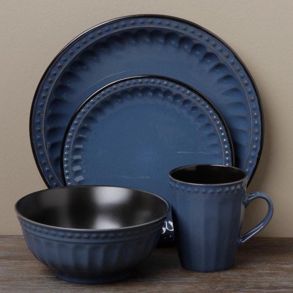 Tabletop Unlimited Beads Blue 16-piece Dinnerware Set