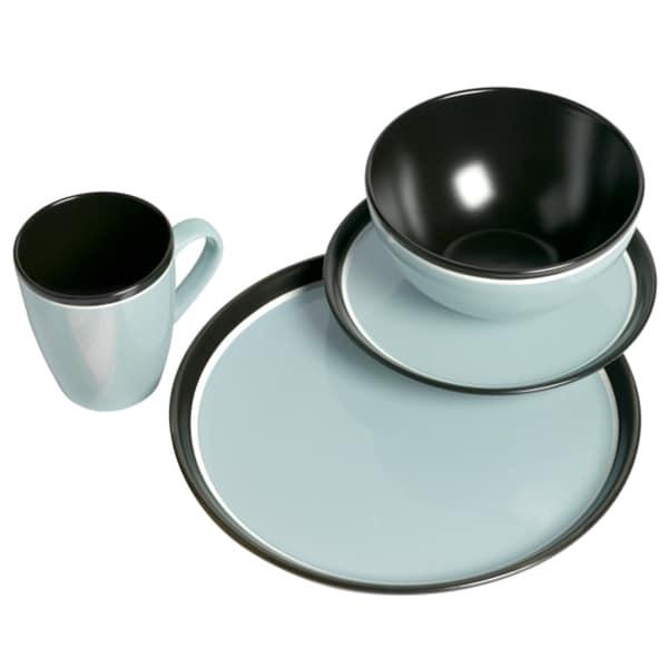 Tabletop Gallery 'Argentina' Blue 16-piece Dinnerware Set