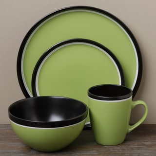 Tabletop Gallery 'Argentina' Green 16-piece Dinnerware Set