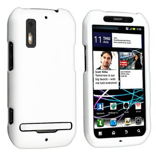 BasAcc White Snap-on Rubber Coated Case for Motorola Photon MB855 4G