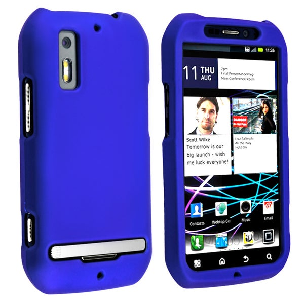 BasAcc Blue Snap-on Rubber Coated Case for Motorola Photon MB855 4G
