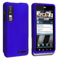 BasAcc Blue Snap-on Rubber Coated Case for Motorola Droid 3 XT862