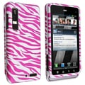 BasAcc Pink/ White Rubber Coated Case for Motorola Droid 3 XT862