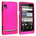 BasAcc Hot Pink Snap-on Rubber Coated Case for Motorola A955 Droid 2