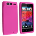BasAcc Hot Pink Silicone Skin Case for Motorola Droid Razr XT910