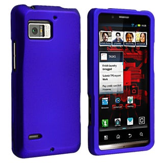 BasAcc Blue Snap-on Rubber Coated Case for Motorola Droid Bionic XT875