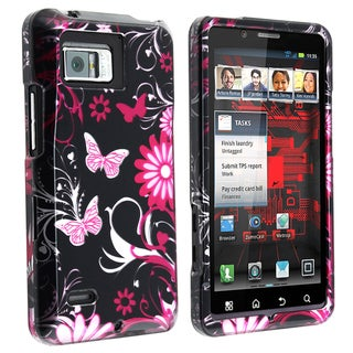 BasAcc Pink Butterfly Snap-on Case for Motorola Droid Bionic XT875
