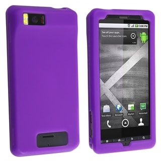 BasAcc Dark Purple Silicone Skin Case for Motorola Droid Xtreme MB810