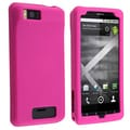 BasAcc Hot Pink Silicone Skin Case for Motorola Droid Xtreme MB810