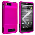 BasAcc Pink Snap-on Rubber Coated Case for Motorola Droid Xtreme MB810/ Droid X2 Daytona