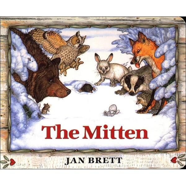 The Mitten: A Ukrainian Folktale (Board book)
