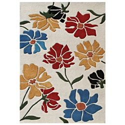 Alliyah Handmade Olive-vine New Zealand Blend Wool Rug (5' x 8')