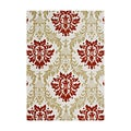 Alliyah Handmade Cherry Tomato New Zealand Blend Wool Rug (8' x 10')