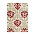 Alliyah Handmade Cherry Tomato New Zealand Blend Wool Rug (5' x 8')
