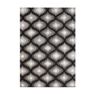 Alliyah Handmade Tufted Black New Zealand Blend Wool Rug (5' x 8')