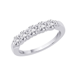 14k White Gold 1/4ct to 1ct TDW Diamond Ring (G-H I1) Size 7