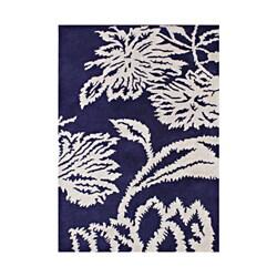 Alliyah Handmade Orient Blue New Zealand Blend Wool Rug (5' x 8')