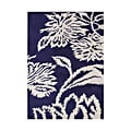 Alliyah Handmade Tufted Orient Blue New Zealand Blend Wool Rug (5' x 8')