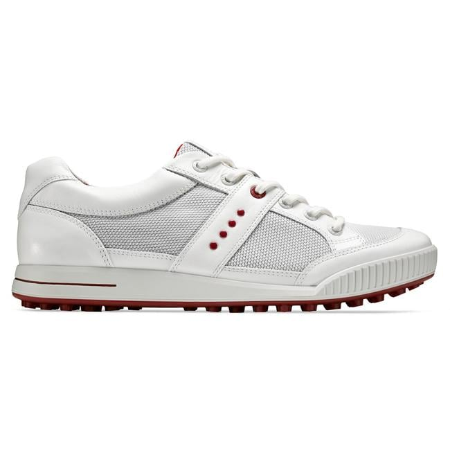 Ecco Men's White Street Premier Golf Shoes