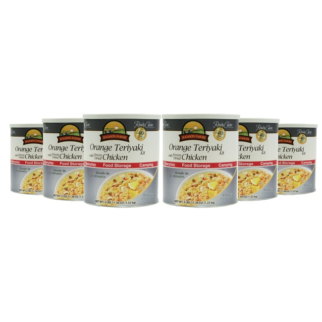 Augason Farms' Orange Teriyaki with Freeze Dried Chicken 6-Pack