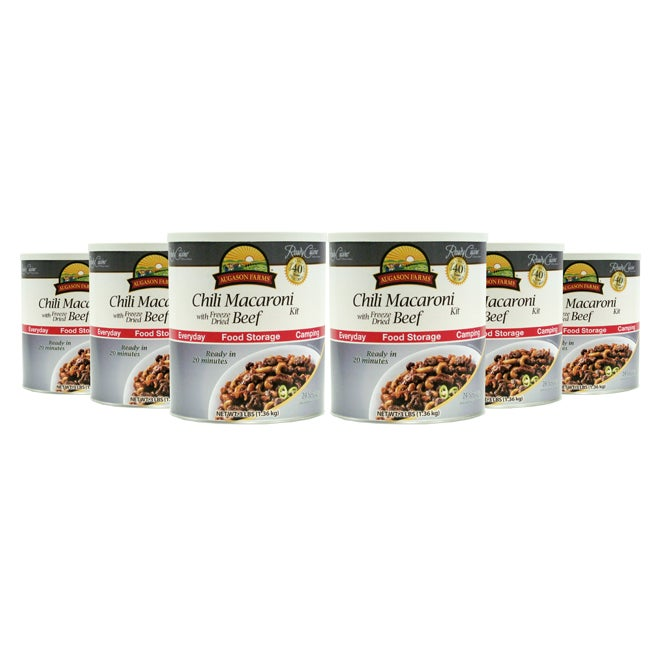 Augason Farms Chili Macaroni with Freeze Dried Beef (Pack of 6)
