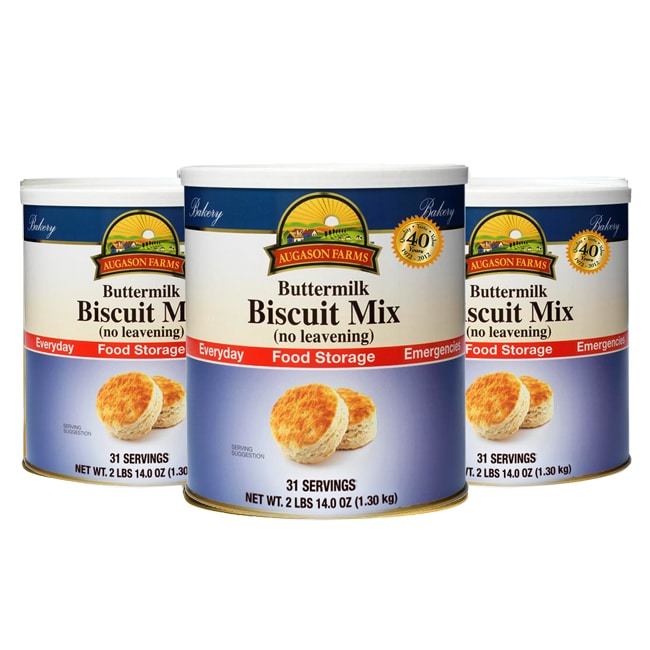 Augason Farms' Food Storage Buttermilk Biscuit Mix 3-Pack