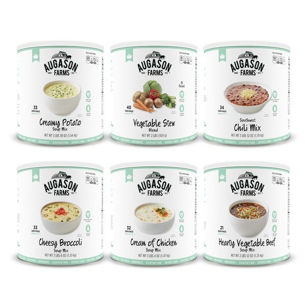 Augason Farms Food Storage Soup Variety 6-Pack