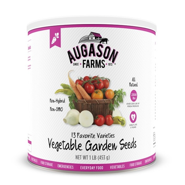 Augason Farms Vegetable Garden Seeds 13 Variety #10 Can