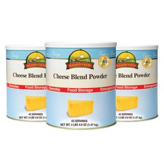 Augason Farms' Food Storage Cheese Blend Powder 3-Pack
