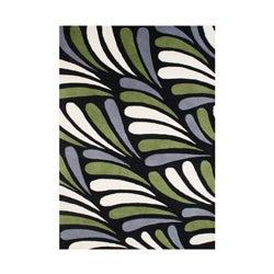 Alliyah Handmade Moss New Zealand Blend Wool Rug (5' x 8')