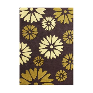 Alliyah Handmade Hot Choclate New Zealand Blend Wool Rug (5' x 8')