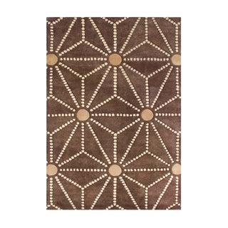 Alliyah Handmade Toffee New Zealand Blend Wool Rug (5' x 8')