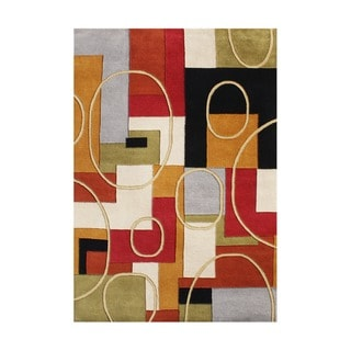 Alliyah Handmade Multicolor New Zealand Blend Wool Rug (9' x 12')