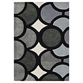 Alliyah Hand Made Tufted Metro Circles Grey New Zealand Blend Wool Area Rug 9&#39; x 12&#39;