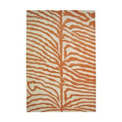 Alliyah Hand Made Safari Orange Wool Area Rug 9' x 12'