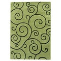 Alliyah Handmade Hand-tufted Lime Green with Black Mehendi Pattern New Zealand Blend Wool Rug (9' x 12')