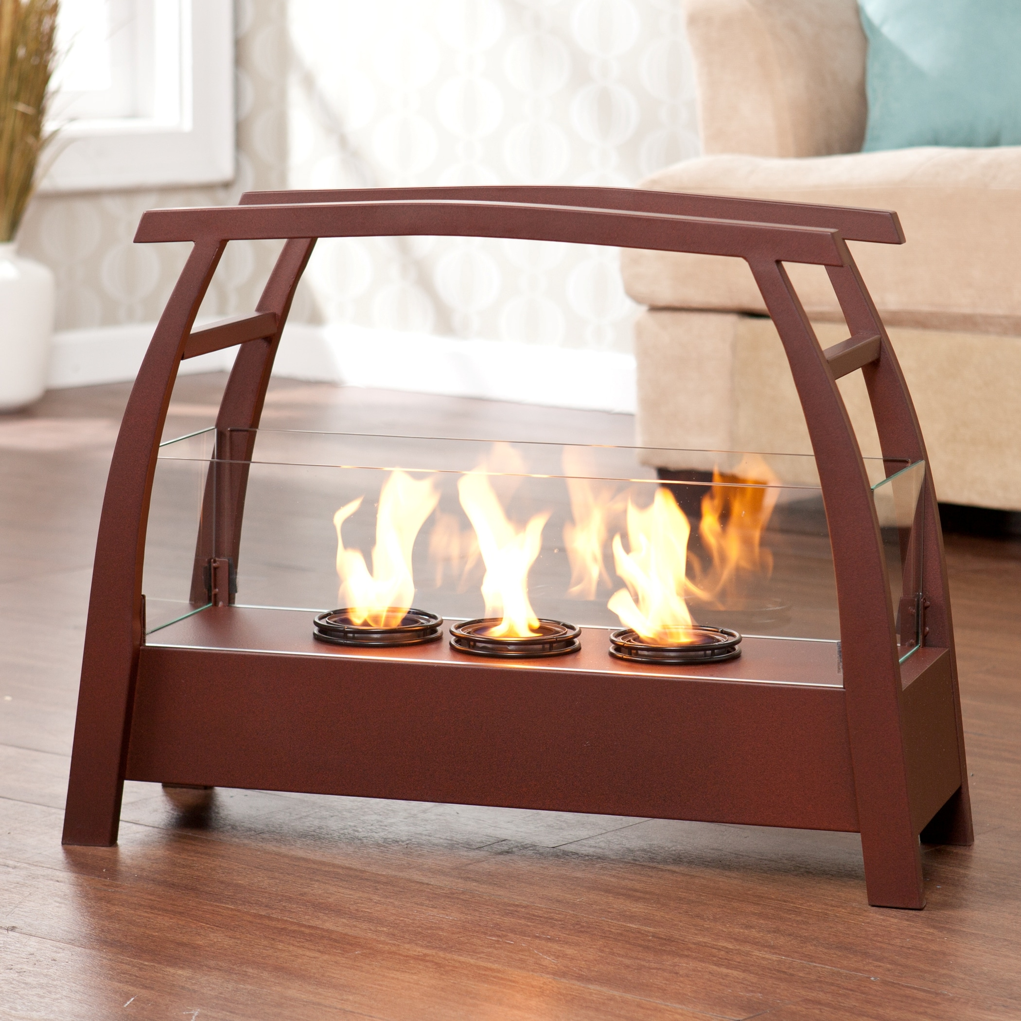 Upton Home Rustic Red Portable Indoor/ Outdoor Gel Fuel Fireplace