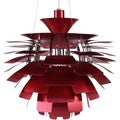 Artichoke Style Red Chandelier Modern Lamp