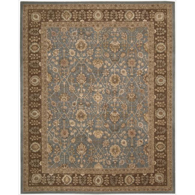 Nourison 3000 Hand-tufted Blue Wool Rug (8'6 x 11'6)
