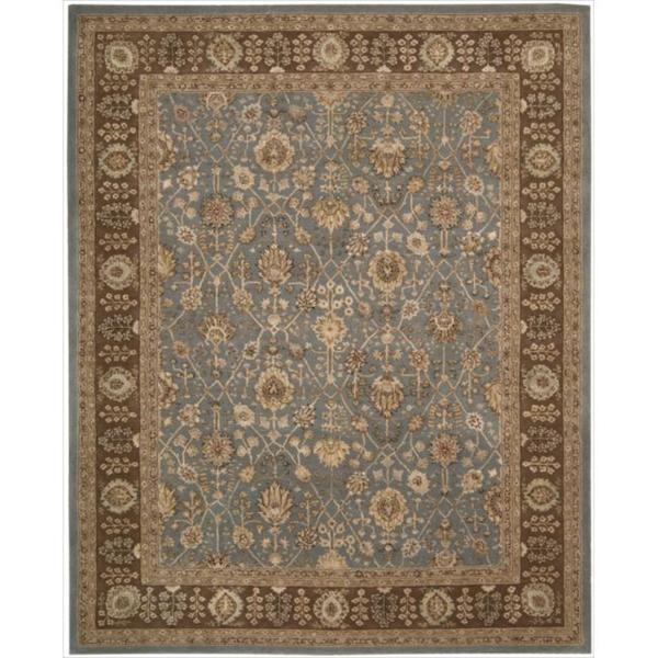 Nourison 3000 Hand-tufted Blue Wool Rug (8'6 x 11'6)