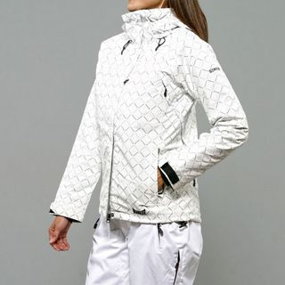 Marker Women's Cosmo Insulated White Diamond Print Ski Jacket