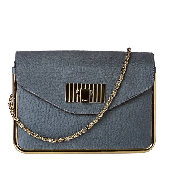 Chloe Sally Framed Leather Shoulder Bag - 14731740 - Overstock.com ...