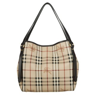 Burberry Haymarket Small Canterbury Tote