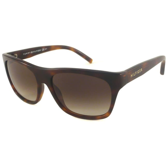 Tommy Hilfiger Women's Havana TH1085 Rectangular Sunglasses