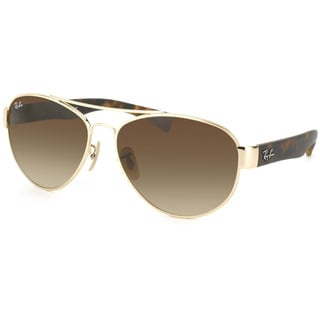 Ray-Ban Unisex RB 3491 Aviator 001/13 Gold & Matte Tortoise Sunglasses