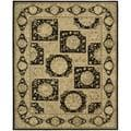 "Nourison 3000 Traditional Hand-Tufted Black Rug (8'6"" x 11'6"")"